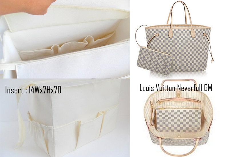 Purse organizer for Louis Vuitton Neverfull GM Damier Azur  0bf00c0845ea7