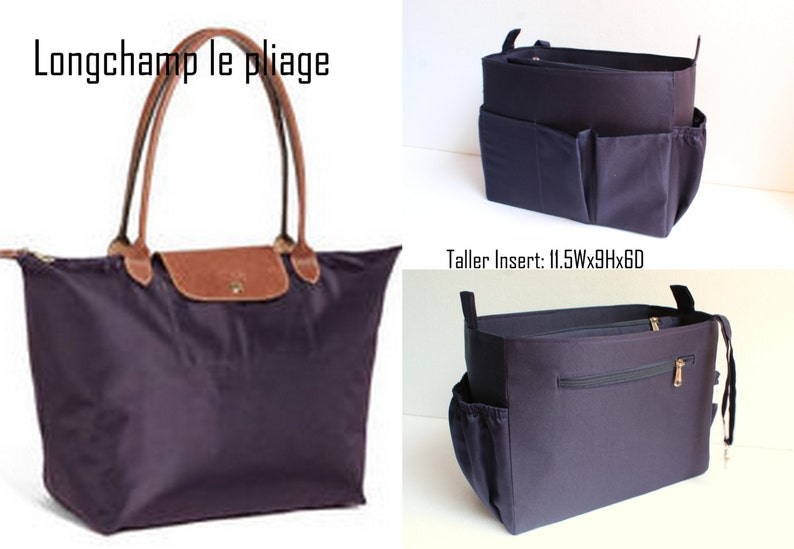 2aed4e22728a Taller Purse organizer Fits large Longchamp Le Pliage Bag
