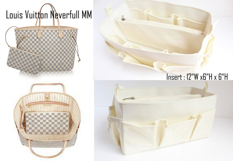 1b24025e0fc Purse organizer to fit Louis vuitton Neverfull MM Damier Azur