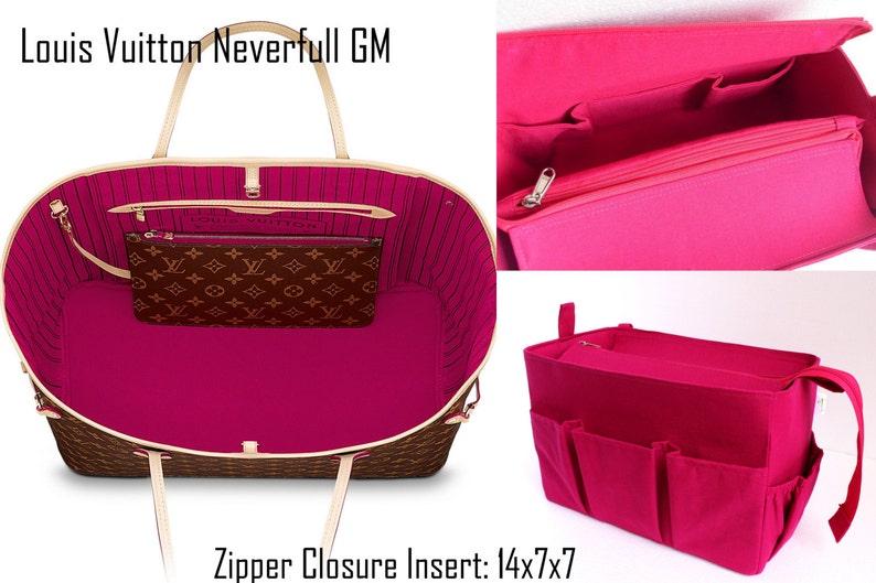 b6efe5b40237 Purse organizer for Louis Vuitton Neverfull GM with Zipper closure- Bag  organise... Purse organizer for Louis Vuitton Neverfull GM with Zipper  closure- Bag ...