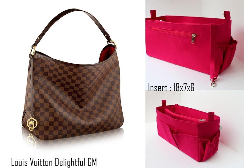 6c248f39d1d3 Purse organizer for Louis Vuitton Delightful GM Bag