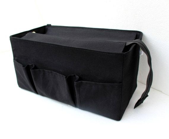 Purse organizer for Celine medium phantom with Zipper closure Bag organizer insert in Black