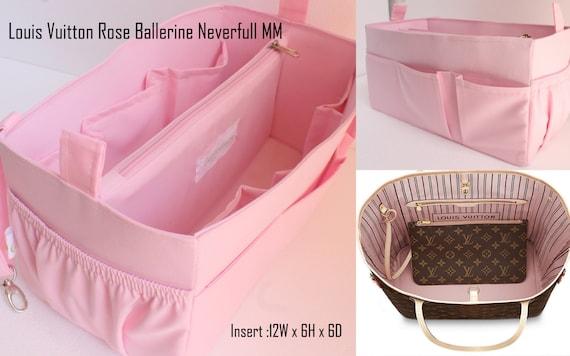 109a3d99dde7 Rose Purse insert to match rose ballerine lining Louis Vuitton Neverfull MM  - Bag organizer insert