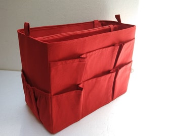 Extra Taller Purse organizer for Louis Vuitton Neverfull GM with Zipper closure and Laptop compartment- Bag organizer insert