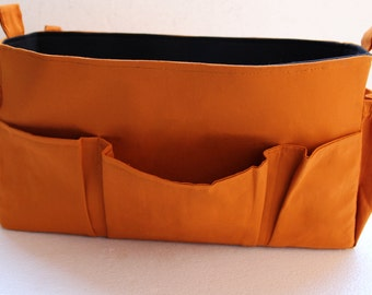 Extra Large Bag organizer for On the go Louise vuitton - XL Purse insert in mustard and Black color for OnTheGo GM tote bag