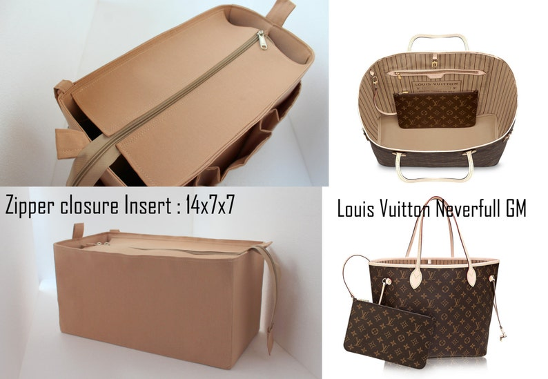 b76a25c62795 Purse organizer for Louis Vuitton Neverfull GM with Zipper