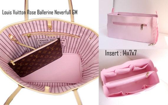 16ed1dfc9794 Rose Purse insert to match rose ballerine lining Louis Vuitton Neverfull GM  - Bag organizer insert