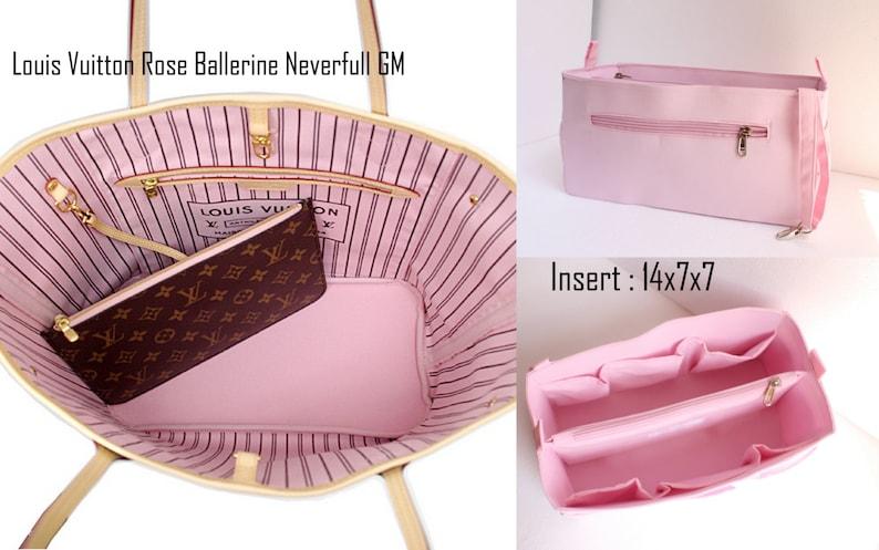 Rose Purse insert to match rose ballerine lining Louis Vuitton Neverfull GM  - Bag organizer insert aa01d60d97ce9