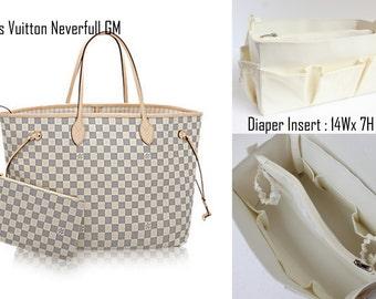 Diaper Bag organizer insert -Extra Large Purse organizer for Louis Vuitton Neverfull GM in Cream