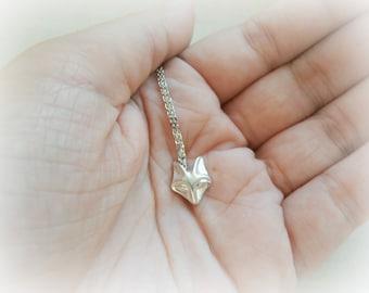 Tiny Fox Necklace Sterling Silver - Fox Jewelry - Dainty Silver Fox Necklace - Foxy Lady Necklase