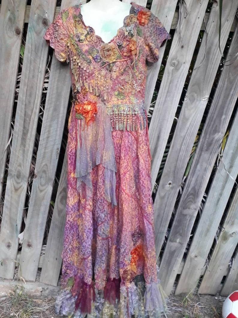 gypsy 20/%OFF bridal fantasy wedding woodland shabby wildskin romantic 4,6 bohemian wedding boho tattered dress bohemian wedding