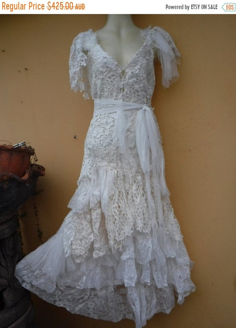20%OFF vintage inspired shabby bohemian gypsy dress ..smaller image 0