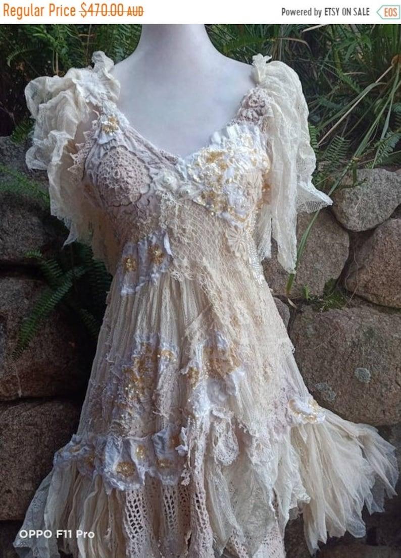 20%OFF hi low beach ivory   lace wedding wildskin crochet image 0