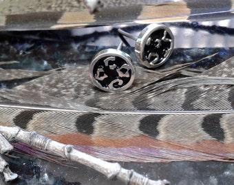 Cheetah spots earrings - Sterling silver