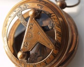 50 pcs 47 mm Huge Sundial and Compass Antique Coffe Vintage Style Pendant Findings (Working)