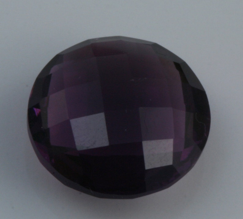 1 pc 12 mm Double side Chess faceted Rhinestone amethyst purple Cabochon  120CB