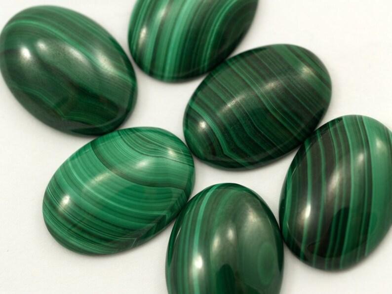 Malachite  genuine cabochon 1 pc 18X25 mm