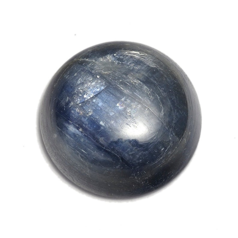 GENUINE kyanite round cabochon 16 mm 6 mm thickness 160cb 277