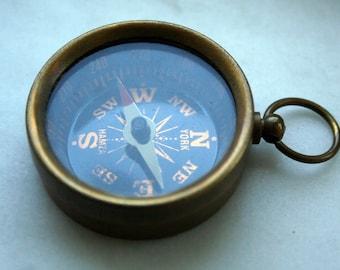30 pcs 38 mm antique Brass Compass