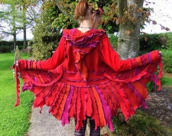 Recycled Pixie Coat - RED - MEDIUM