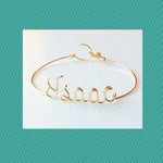 Personalized Bracelet,Personalised Bracelet, Wire Name Bracelet, Name Bracelet, Friendship Bracelet