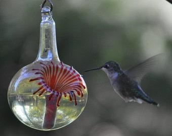 OR- Hummingbird Feeder,  The Kennedy Style Hummingbird Feeder, The Original One Piece Drip-less Hummingbird Feeder. Free Gift Wrapping