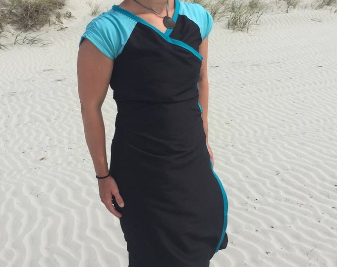Featured listing image: Modest Ruched Wrap Swimdress SHORTS INCLUDED modest swimwear wrap dress