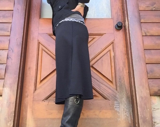 Featured listing image: READY to SHIP- black, size XL chlorine resistant Swim Skirt Modest Running Skirt Revamped Straight-A style