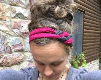 Nautical Knot Headband Running Headband cotton/spandex