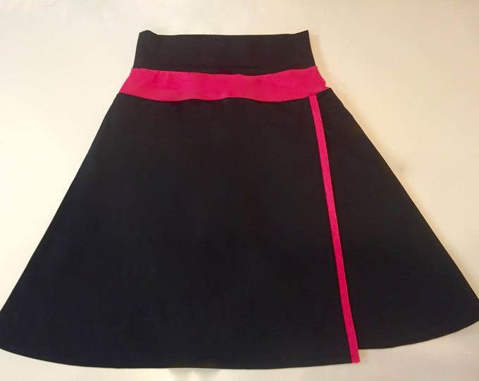 Featured listing image: READY to SHIP - Modest Swim Skirt Asymmetric Faux-Wrap Swim Skirt