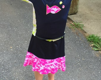 Girls' Flutter Swim Skort Modest Swim Skirt Ultra CHLORINE RESISTANT option - Big girl sizes