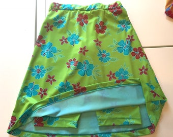 Girls A-Line swim skort with attached shorts CHLORINE RESISTANT option - little girl sizes