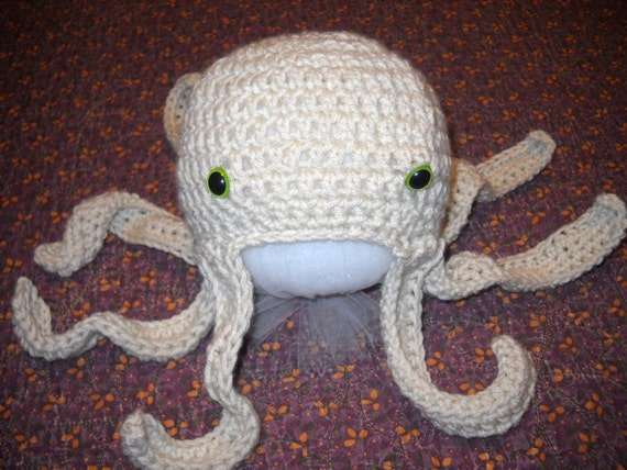 PDF Pattern Crocheted Octopus Hat Infant Baby Toddler Child Etsy Classy Crochet Octopus Hat Pattern