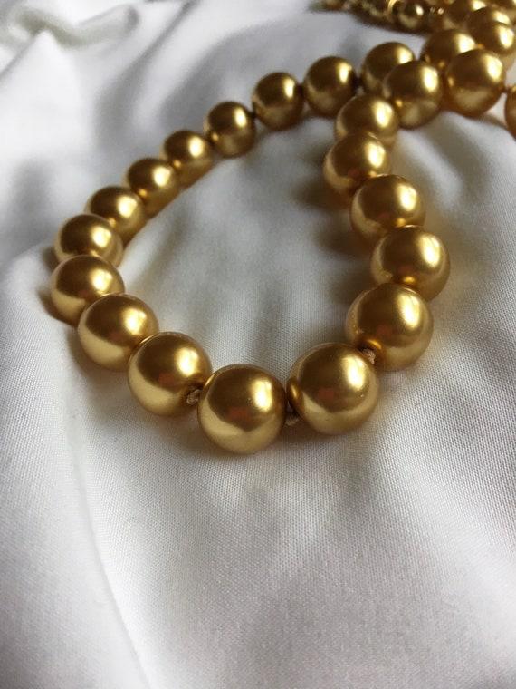 Joan Rivers Vintage Gold Pearl Necklace, Vintage S