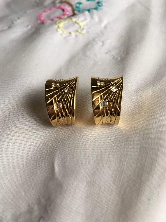 Givenchy Vintage Gold Hoop Earrings, Vintage Bijou