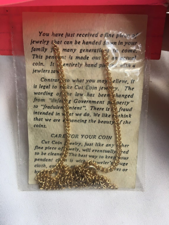Vintage Birthday Penny Coin Necklace, 1940s Birth… - image 2