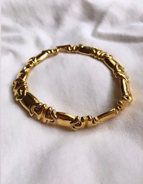 Joan Rivers Vintage Gold Chain Bracelet, Joan Rive