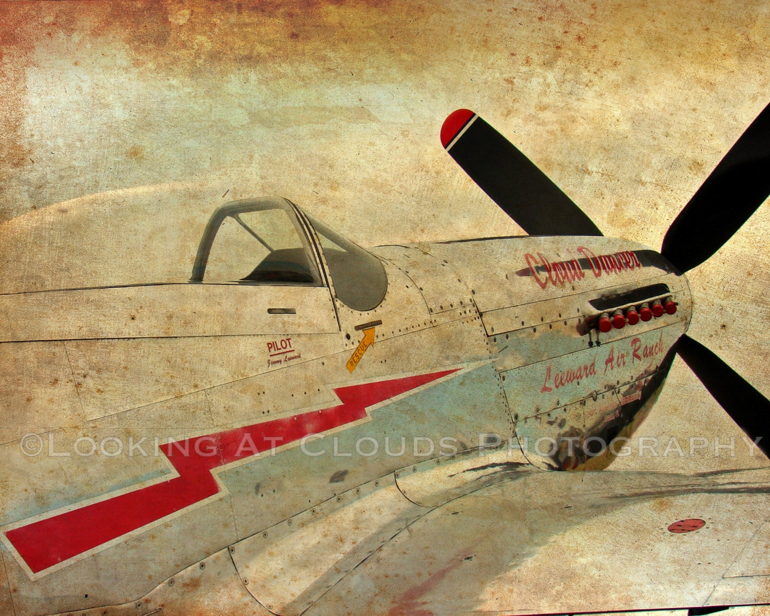 P51 airplane art aviation art photo P-51 Mustang vintage | Etsy