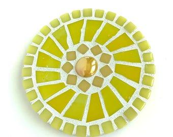 Mosaic dot wall decor, yellow wall art