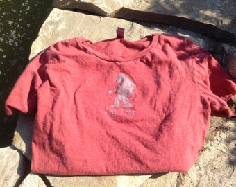 Norwegian Troll Shirt Jeg Tror heather Red woman's fitted