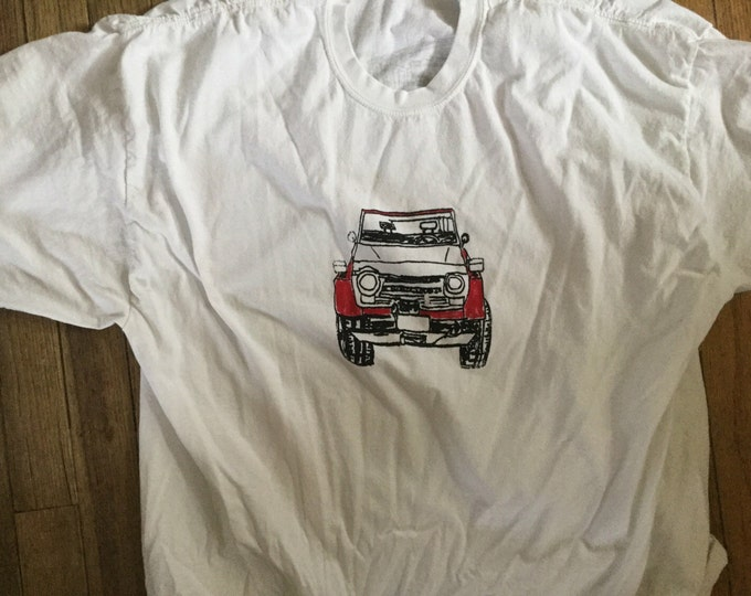 FJ55 shirt white adult  2X-large Land cruiser iron pig