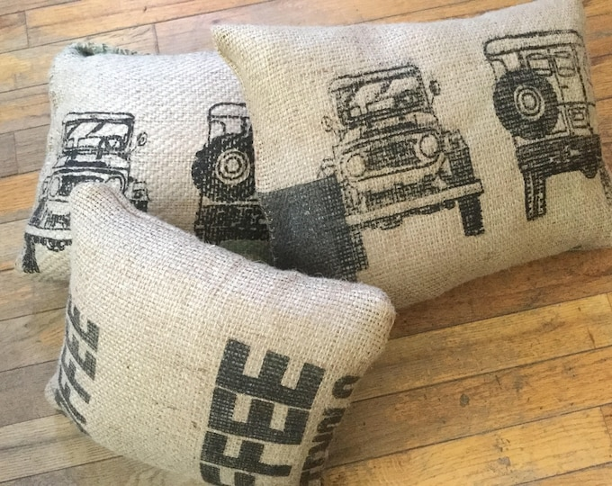Coffee Bag Burlap  FJ40 Land Cruiser Land cruiser Pillow