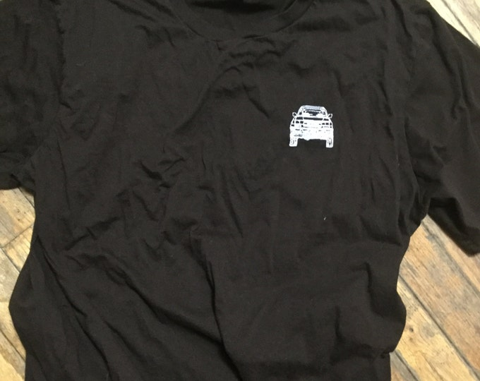 X-Large adult FJZ80 Series blueprint Land Cruiser LandCruiser dark brown tshirt