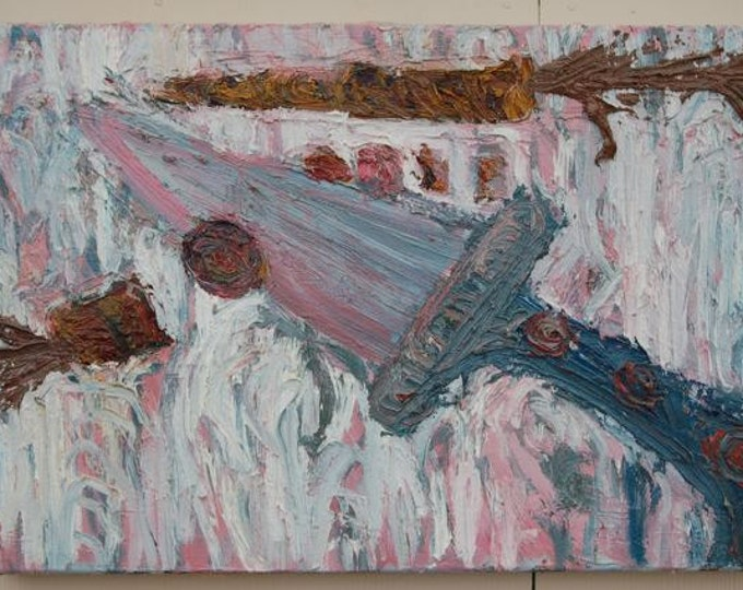 Scott Torkelson Original Oil on Canvas Knife and carrots on cutting board, Untitled.