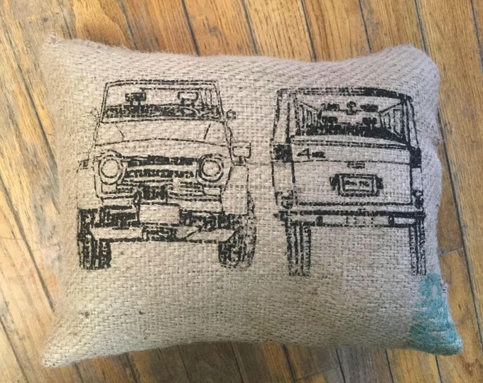 Coffee Bag Burlap  FJ55 Land Cruiser Land cruiser Pillow