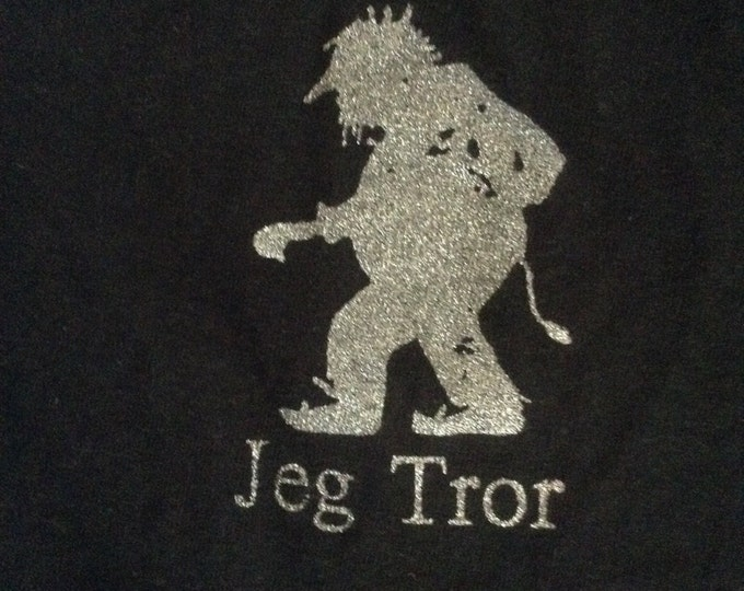 Norwegian Troll Shirt Jeg Tror navy Blue adult short sleeve