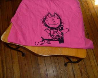 Ugle Norwegian for Owl Small Adult shirt in Pink Designed by Katya