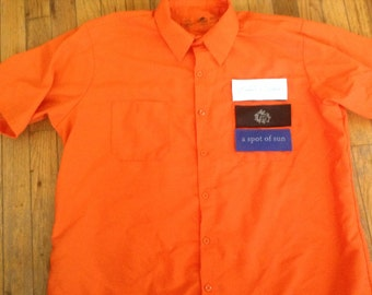 Land Cruiser mechanics shirt 40 series  Hook and loop patch front  orange