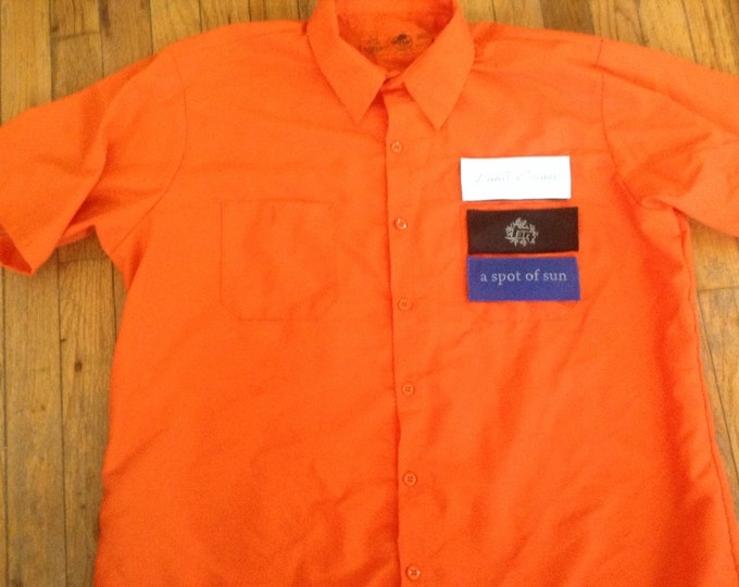 Land Cruiser mechanics shirt 40 series  Hook and loop patch front  orange
