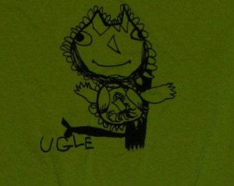 Ugle (Owl) shirt  Norwegian Series Designed by Katya green Adult X-Large